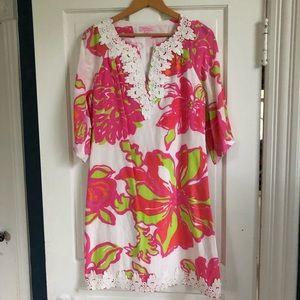 Lilly Pulitzer 100% Silk Dress w/Embellishments, 2